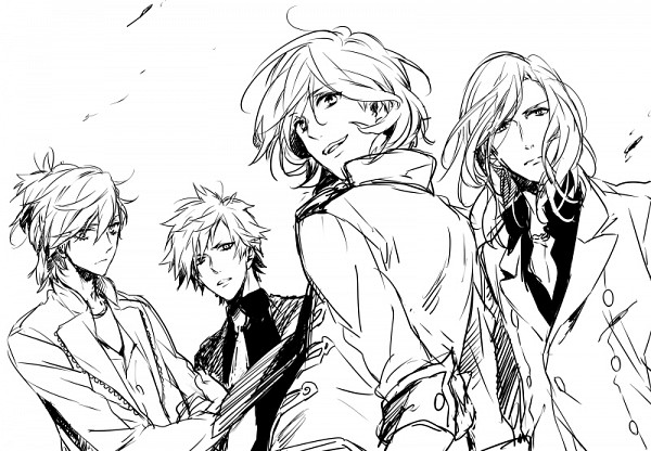 Tags: Anime, Nakagawa Waka, Uta no☆prince-sama♪, Kotobuki Reiji, Camus (Utapri), Kurosaki Ranmaru, Mikaze Ai, Pixiv, Fanart, Quartet Night