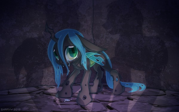 Tags: Anime, Albinosharky, My Little Pony, Queen Chrysalis, Alicorn, Pegasus, Fanart, Fanart From DeviantART, deviantART