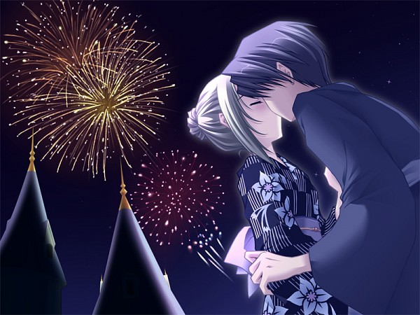 Tags: Anime, CARNELIAN, Quilt (VN), Takumi (Quilt), Kyrie (Quilt), CG Art