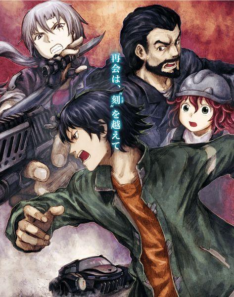 Tags: Anime, Yoshitoshi Abe, Geek Toys, RErideD: Tokigoe no Derrida, Vidaux Volker, Donna, Derrida Yvain, Graham (RErideD), Mayuka (RErideD), Key Visual, Official Art