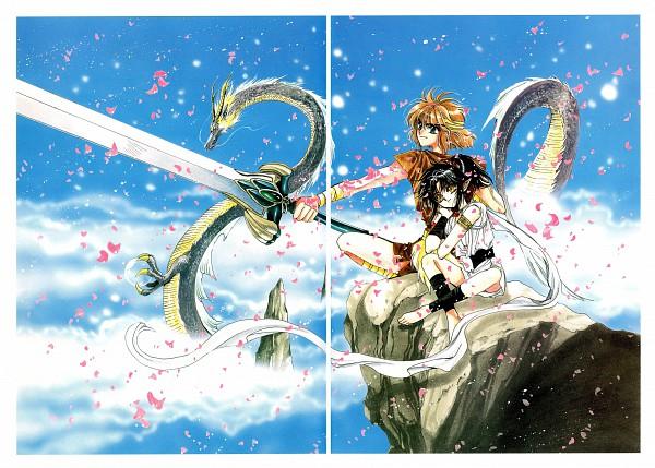 Tags: Anime, CLAMP, RG Veda, Ashura (RG Veda), Ryuu-ou, Broadsword, Scan, Official Art