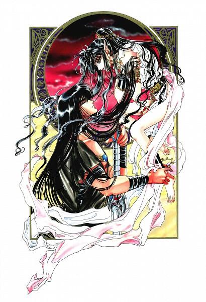 Tags: Anime, CLAMP, RG Veda, Ashura (RG Veda), Yasha-ou, Scan, Official Art