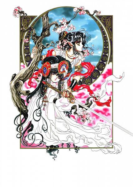 Tags: Anime, CLAMP, RG Veda, Aizen Myuu-ou, Ashura (RG Veda), Official Art, Scan