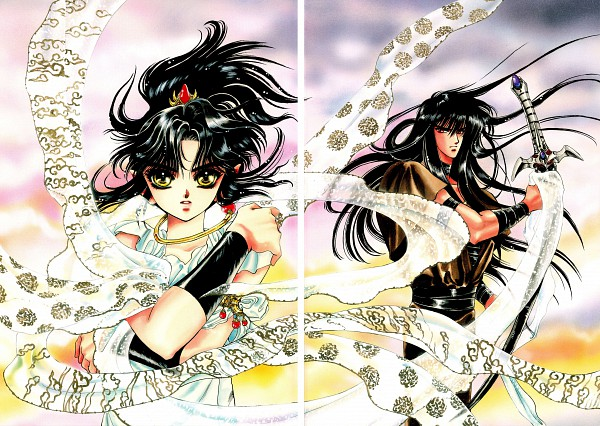 Tags: Anime, CLAMP, RG Veda, Ashura (RG Veda), Yasha-ou, Scan, Official Art