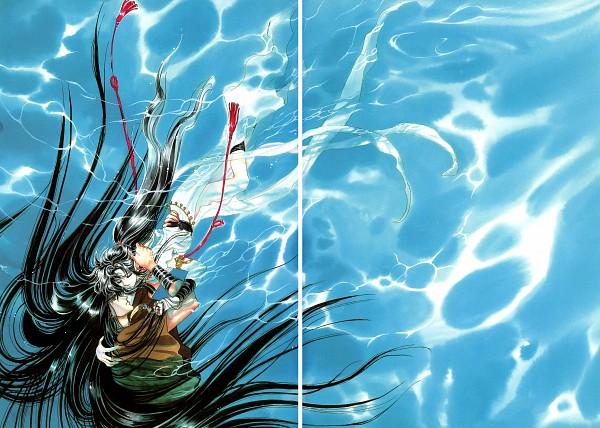 Tags: Anime, CLAMP, RG Veda, Yasha-ou, Ashura (RG Veda), Scan, Official Art