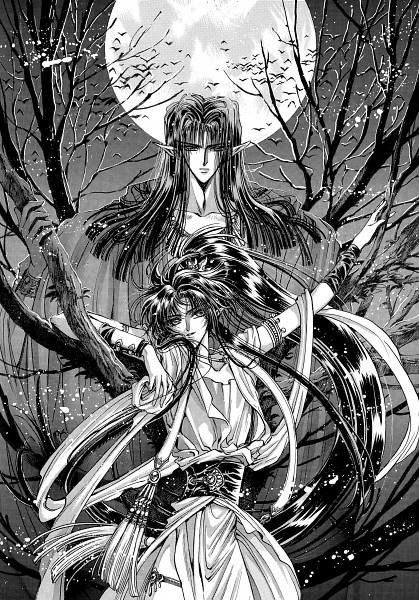 Tags: Anime, CLAMP, RG Veda, Ashura-ou, Ashura (RG Veda), Official Art, Scan