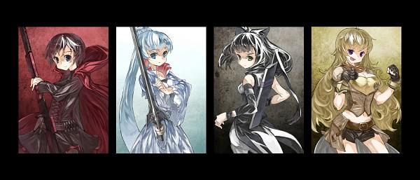 Tags: Anime, Cusui, RWBY, Ruby Rose, Yang Xiao Long, Blake Belladonna, Weiss Schnee, Facebook Cover, Fanart