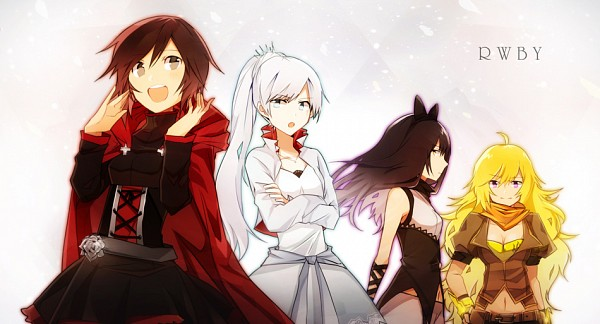Tags: Anime, Pixiv Id 5847095, RWBY, Yang Xiao Long, Blake Belladonna, Weiss Schnee, Ruby Rose, Fanart, Facebook Cover