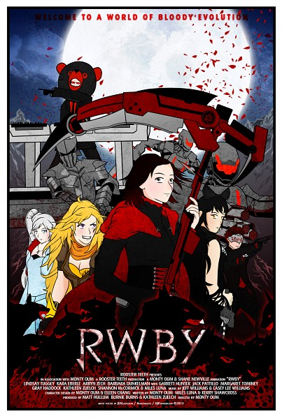 Tags: Anime, Monty Oum, RWBY, Blake Belladonna, Adam Taurus, Weiss Schnee, Ruby Rose, Yang Xiao Long, Soldier, Cast, Beast, Poster (Object), Movie Poster