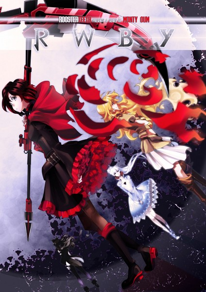 Tags: Anime, Resake, RWBY, Blake Belladonna, Weiss Schnee, Ruby Rose, Yang Xiao Long, Fanart From DeviantART, PNG Conversion, deviantART, Mobile Wallpaper, Fanart