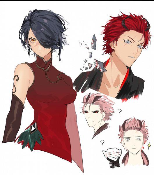 Tags: Anime, Rdarinka X, RWBY, Cinder Fall, Adam Taurus, Twitter, Fanart