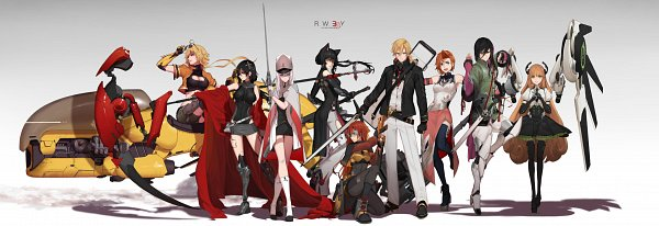 Tags: Anime, dishwasher1910, RWBY, Blake Belladonna, Lie Ren, Weiss Schnee, Fan Character, Nora Valkyrie, Ruby Rose, Jaune Arc, Penny Polendina, Yang Xiao Long, Mechanical Wings