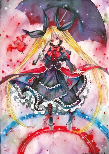 Tags: Anime, Mosho, BlazBlue, Rachel Alucard, Mobile Wallpaper, Fanart From Pixiv, Pixiv, Watercolor, Fanart, Traditional Media