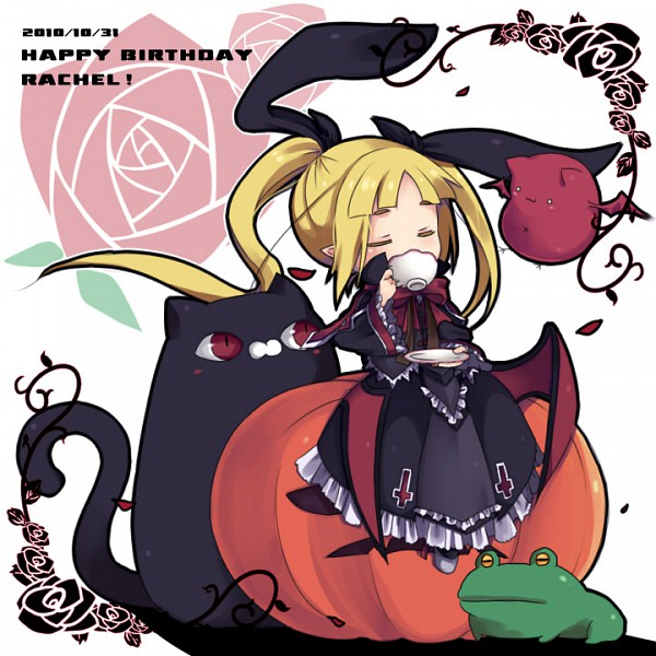 Tags: Anime, BlazBlue, Nago, Gii, Rachel Alucard, Sitting On Pumpkin