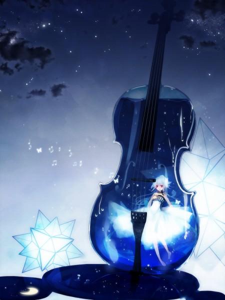 Tags: Anime, Yu-kichi, Rachel Entichers, Cello, Transparent Musical Instrument, Transparent Object, Pixiv, Revision, Original