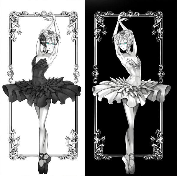 Tags: Anime, Pixiv Id 18300658, Satsuriku no Tenshi, Rachel Gardner, Ballet Shoes, Opposites, Ballerina Outfit, Light And Dark, Ballet, Fanart From Pixiv, Fanart, Pixiv