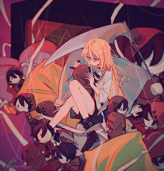 Tags: Anime, Pixiv Id 5604555, Satsuriku no Tenshi, Rachel Gardner, Isaac Foster, Pixiv, Fanart, Fanart From Pixiv