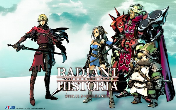 Tags: Anime, Atlus, Radiant Historia, Rosch, Marco (Radiant Historia), Stocke, Raynie, Official Art, Wallpaper