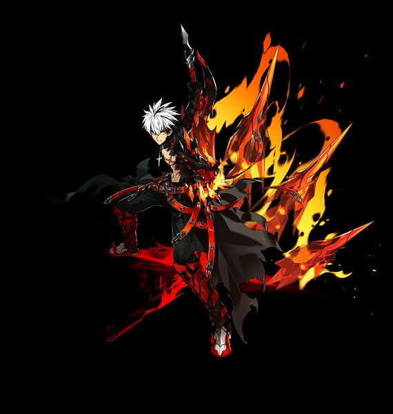 Tags: Anime, Elsword, Raven (Elsword), Rage Hearts (Raven), Cover Image, Official Art