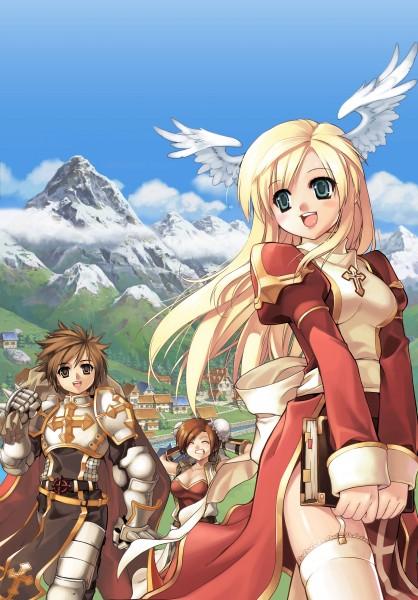 Tags: Anime, Ragnarok Online: 5th Anniversary Memorial Book Artbook, RAGNARÖK ONLINE, Monk (Ragnarok Online), High Priestess, Lord Knight (Rangnarok Online), Monk
