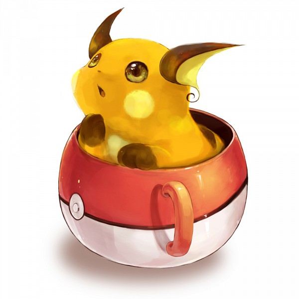 Tags: Anime, Saiyoukaxx, Pokémon, Raichu, Pokéball Mug, Pixiv, Fanart