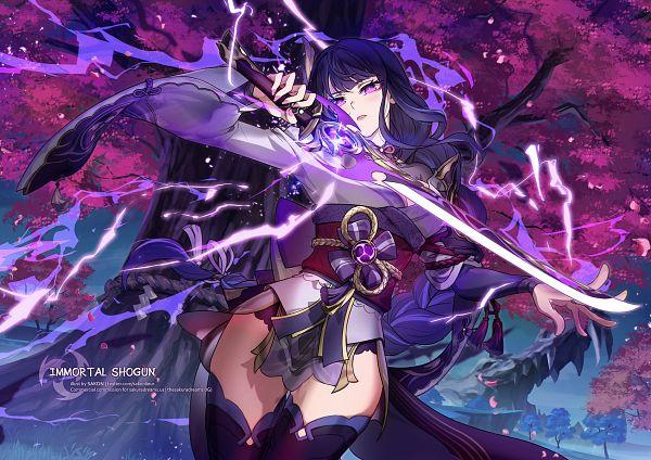 Tags: Anime, Sakon04, Genshin Impact, Raiden Shogun, Fanart From Pixiv, Pixiv, Fanart