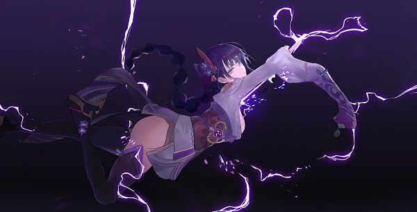 Tags: Anime, Pixiv Id 17862284, Genshin Impact, Raiden Shogun, Fanart From Pixiv, Pixiv, Fanart