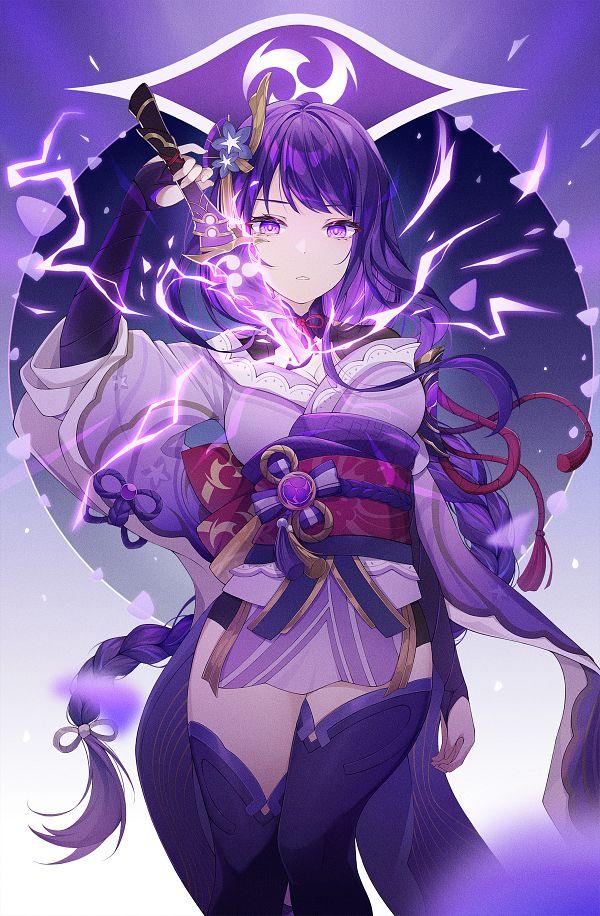 Tags: Anime, Pixiv Id 16945245, Genshin Impact, Raiden Shogun
