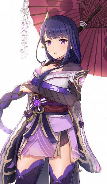 Tags: Anime, Ashimi, Genshin Impact, Raiden Shogun, Fanart From Pixiv, Pixiv, Fanart
