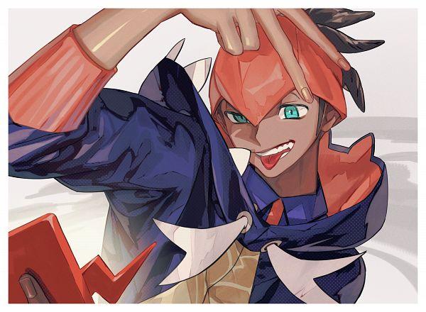 Tags: Anime, Pixiv Id 19479519, Pokémon Sword & Shield, Pokémon, Rotom, Raihan, Rotom Phone