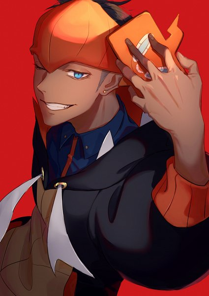 Tags: Anime, Pixiv Id 32451749, Pokémon Sword & Shield, Pokémon, Rotom, Raihan, Alternate Appearance, Rotom Phone, Pixiv, Fanart, Fanart From Pixiv
