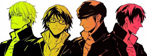 Tags: Anime, DURARARA!!, Orihara Izaya, Kadota Kyouhei, Heiwajima Shizuo, Kishitani Shinra, Raijin Days