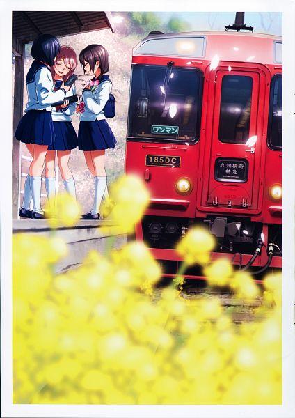Tags: Anime, Vania600, Rail Wars!, HAKATANMON Illustration Works, Koumi Haruka, Scan, Official Art