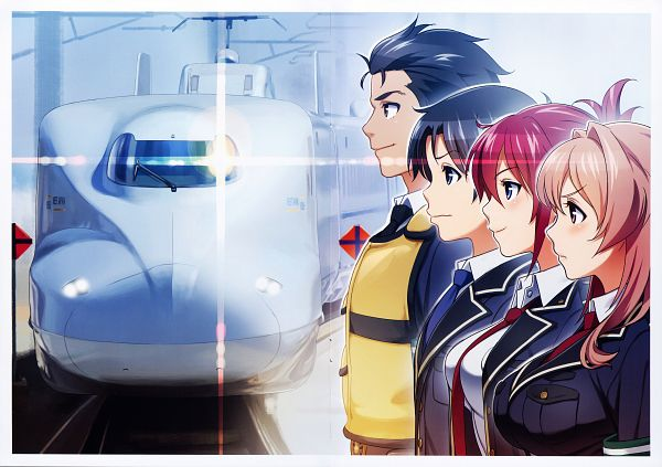 Tags: Anime, Vania600, Rail Wars!, HAKATANMON Illustration Works, Iwaizumi Shou, Koumi Haruka, Sakurai Aoi, Takayama Naoto, Scan, Official Art