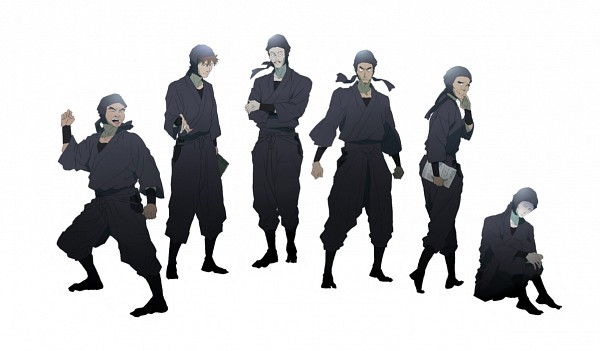 Tags: Anime, Pixiv Id 2802508, Rakudai Ninja Rantarou, Doi Hansuke, Yamada Denzou, Fanart, Pixiv, Failure Ninja Rantarou