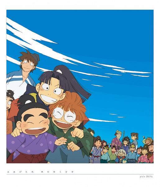 Tags: Anime, Pixiv Id 56576, Grindmyinsides, Rakudai Ninja Rantarou, Inadera Rantarou, Yamada Rikichi, Settsu No Kirimaru, Yamada Denzou, Doi Hansuke, Fukutomi Shinbei, Fanart, Ichinensei, Rantarou's Class, Failure Ninja Rantarou