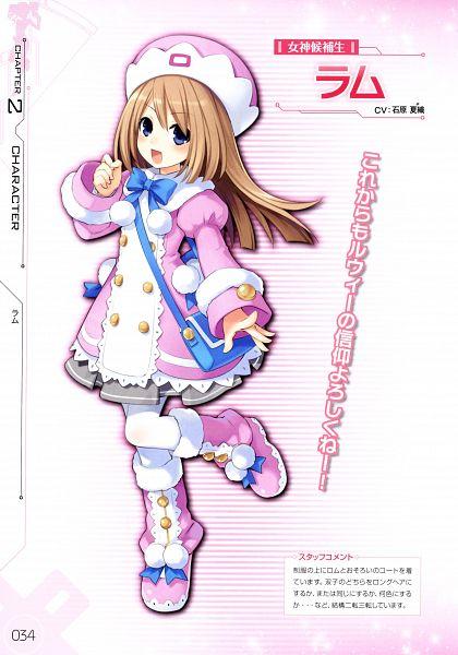 Tags: Anime, Tsunako, IDEA FACTORY, Compile Heart, Choujigen Game Neptune mk2 - Complete Visual Guide, Choujigen Game Neptune mk2, Choujigen Game Neptune, Ram (Choujigen Game Neptune), Official Art, Scan, Mobile Wallpaper