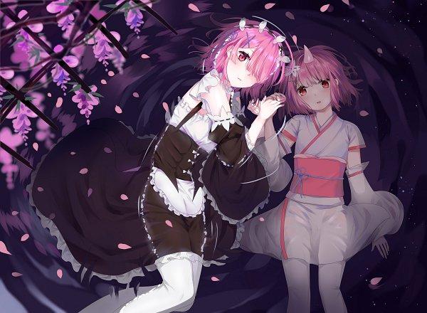 Tags: Anime, Pixiv Id 15002056, Re:Zero Kara Hajimeru Isekai Seikatsu, Ram (Re:Zero), Pixiv, Fanart, Fanart From Pixiv
