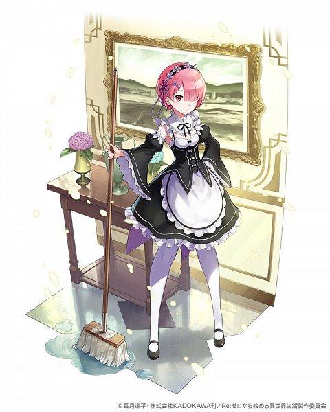 Tags: Anime, phantom_of_kill, Re:Zero Kara Hajimeru Isekai Seikatsu, Ram (Re:Zero), Wallpaper, Fanart, Twitter