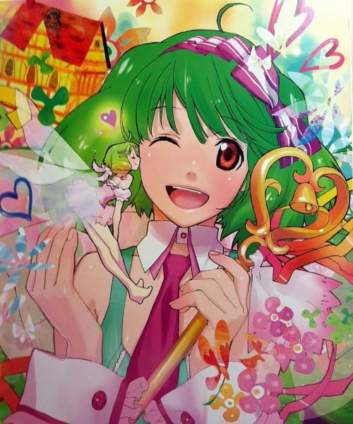 Tags: Anime, Macross Frontier, Ranka Lee, Dark Colors, Niji Iro Kuma Kuma, Official Art