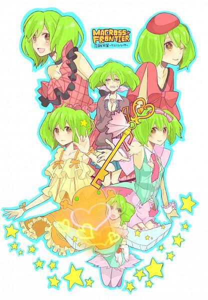 Tags: Anime, Gomi Chiri, Macross Frontier, Ranka Lee, I Love You Gesture, Bright Colors, Niji Iro Kuma Kuma