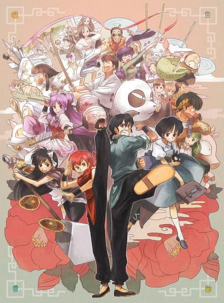 Tags: Anime, Haruhashi, Ranma ½, Hibiki Ryoga, Tendo Kasumi, Saotome Ranma, Saotome Genma, Kuonji Ukyou, Shampoo (Ranma ½), Kuno Tatewaki, Tendo Akane, Tendo Soun, Tendo Nabiki