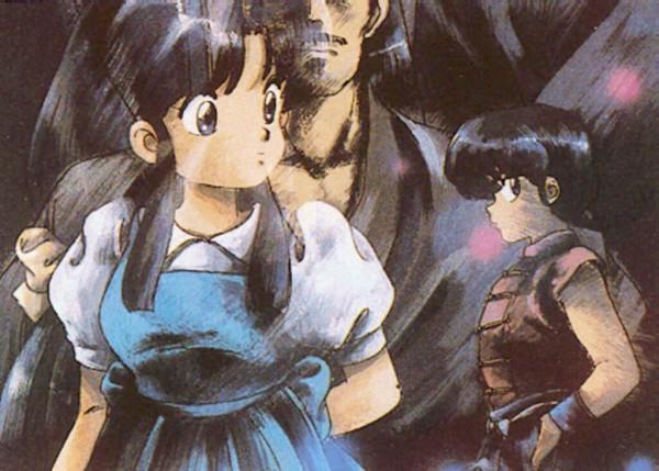 Tags: Anime, Ranma ½, Saotome Ranma, Tendo Akane, Screenshot, Scan