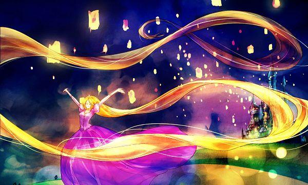 Tags: Anime, FLAFLY, Rapunzel, Tangled (Disney), Rapunzel (Character), Rapunzel (Tangled), Sky Lanterns, Paper Lantern, I See The Light, Fanart, Pixiv