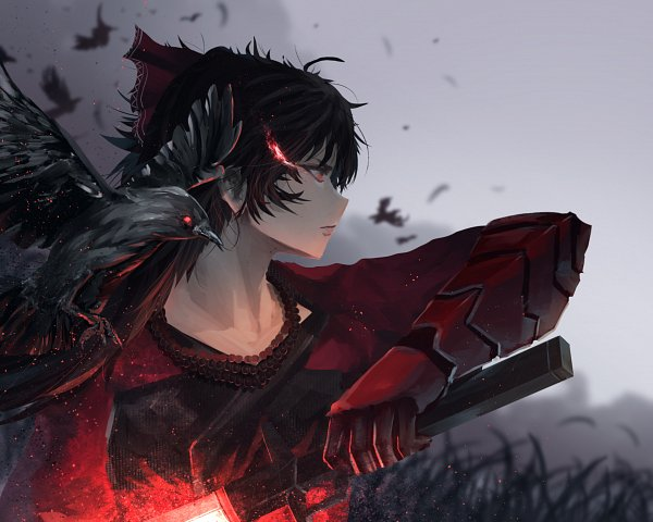 Tags: Anime, Amos Yan, RWBY, Raven Branwen, Glowing Weapons, Black Bird, Fanart, Fanart From Pixiv, Pixiv