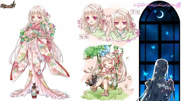 Tags: Anime, Shimaumi Suzume, BROCCOLI, End Breaker!, Ravisurozu Colette, Swing, Harp, Facebook Cover, Character Sheet