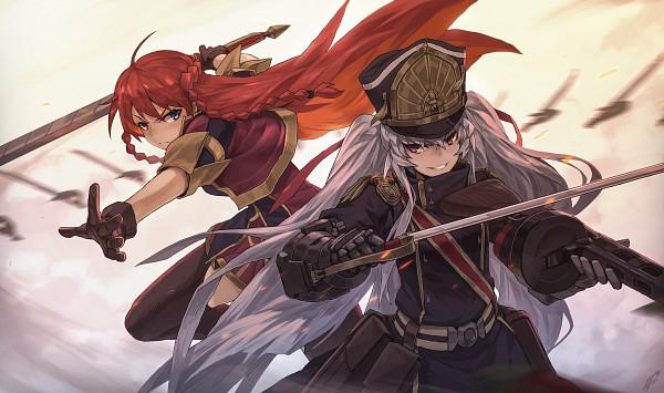 Tags: Anime, Pixiv Id 12136213, Re:Creators, Altair (Re:Creators), Selesia Yupitilia, Wallpaper