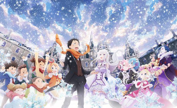 Tags: Anime, Sakai Kyuuta, WHITE FOX, Re:Zero Kara Hajimeru Isekai Seikatsu, Re:Zero Kara Hajimeru Isekai Seikatsu: Memory Snow, Dine (Re:Zero), Rem (Re:Zero), Natsuki Subaru, Cain (Re:Zero), Ram (Re:Zero), Mild (Re:Zero), Pack (Re:Zero), Meina (Re:Zero)
