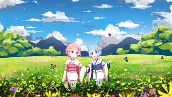 Tags: Anime, Violet (Eightonemini), Re:Zero Kara Hajimeru Isekai Seikatsu, Ram (Re:Zero), Rem (Re:Zero), HD Wallpaper, Wallpaper, Re:zero − Starting Life In Another World