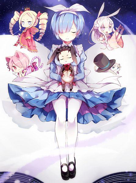 Tags: Anime, Pixiv Id 5072213, Re:Zero Kara Hajimeru Isekai Seikatsu, Emilia (Re:Zero), Rem (Re:Zero), Natsuki Subaru, Ram (Re:Zero), Pack (Re:Zero), Beatrice (Re:Zero), Mad Hatter (Cosplay), March Hare (Cosplay), White Rabbit (Cosplay), Cheshire Cat (Cosplay), Re:zero − Starting Life In Another World